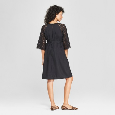 fe72e9e858b0 Maternity Lace Sleeve Shift Dress - Isabel Maternity By Ingrid & Isabel™  Black : Target