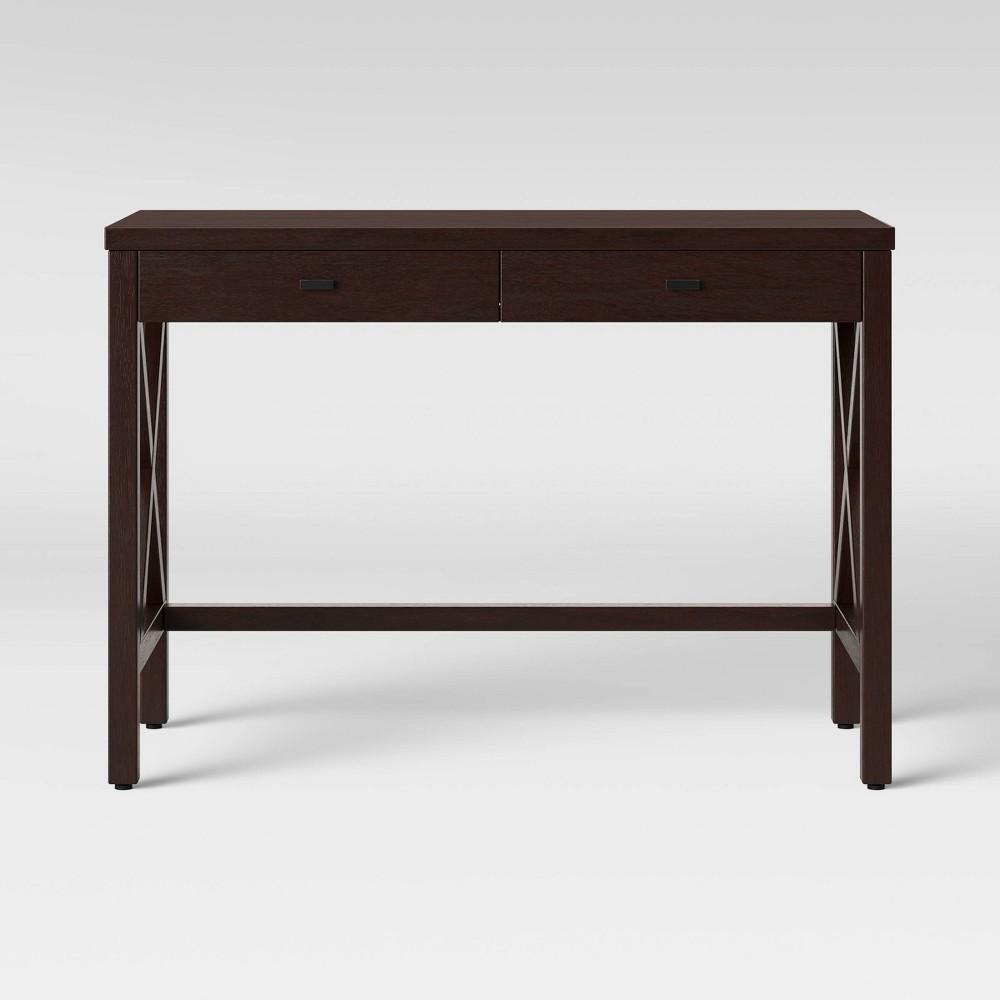 Owings X Base Desk Espresso (Brown) - Threshold