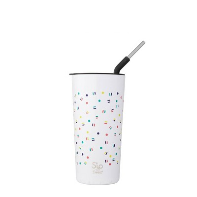 S'ip by S'well 24oz Takeaway Tumbler with Stainless Steel Straw Candy is Dandy
