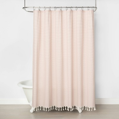 Railroad Stripe Shower Curtain Copper - Hearth & Hand™ with Magnolia