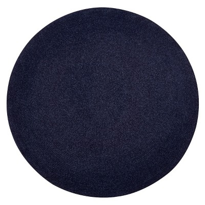 Chenille Solid Collection 100% Polyester Reversible Indoor Area Utility Round Rug - Better Trends