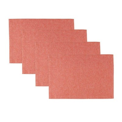 """4pk 13""""X19"""" Somers Placemats Coral - Town & Country Living"""