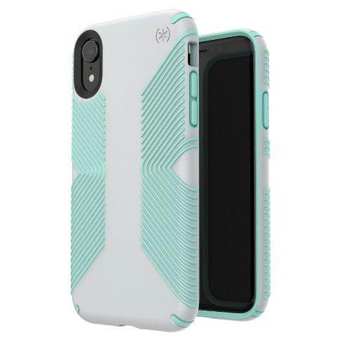 reputable site c3426 aa5e9 Speck Apple iPhone XR Presidio Grip Case - Dolphin Gray/Aloe Green