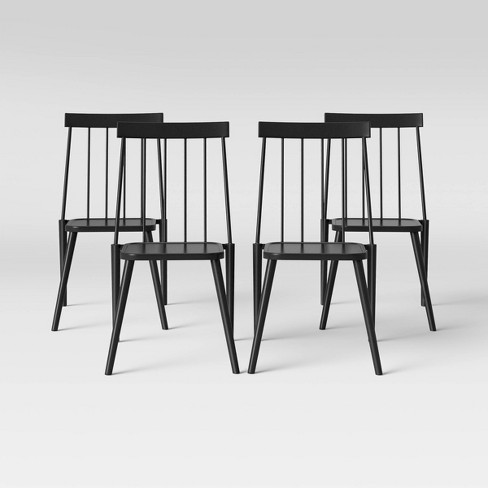 Windsor 4pk Patio Dining Chair - Black - Project 62™ - image 1 of 4