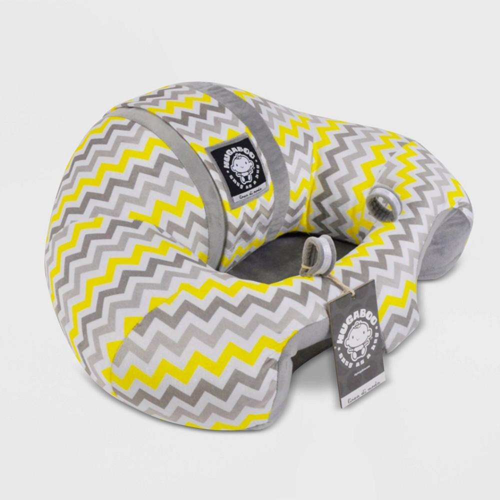 Image of Hugaboo Baby Floor Seat - Yellow Chevron