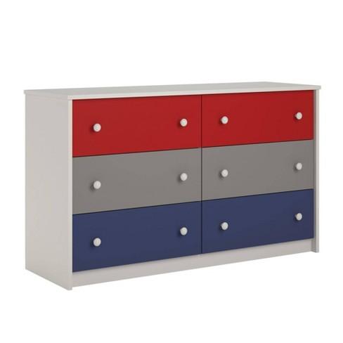 Kids Journey 6 Drawer Dresser Red Blue Room Joy Target