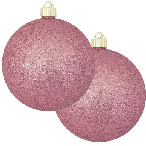 Christmas By Krebs 2ct Rose Pink Shatterproof Christmas Ball Ornament 6 150mm Target