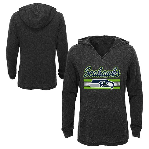 NFL Seattle Seahawks Girls  Game Time Gray Burnout Hoodie   Target 7e589542d