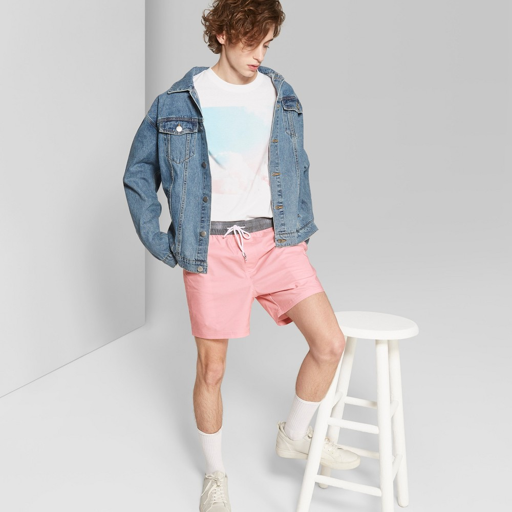 Men's 5.5 Striped Enzyme Board Shorts - Original Use Pink M