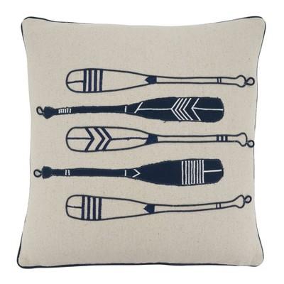 Oars Throw Pillow Cover - Saro Lifestyle