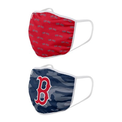 MLB Boston Red Sox Youth Clutch Printed Face Covering - 2pk