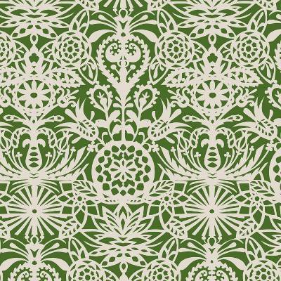 Green & White Floral