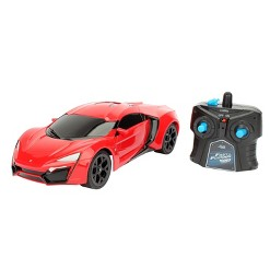 Jada Toys Fast & Furious RC W Motors Lykan HyperSport Remote Control Vehicle 1:16 Scale Glossy Red