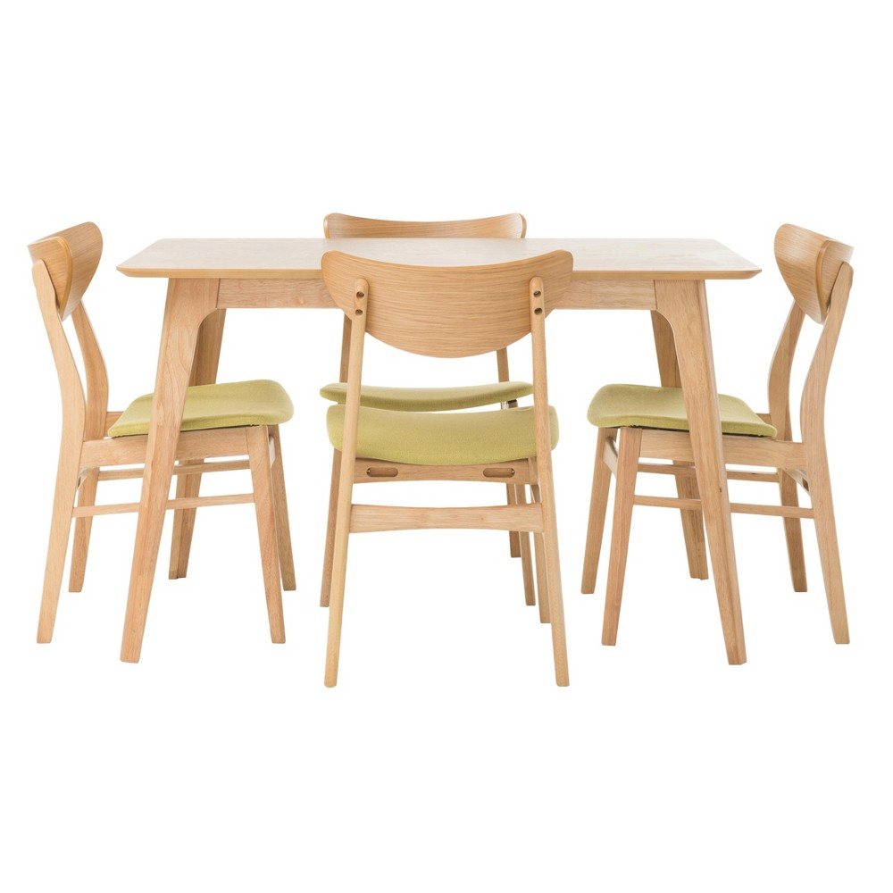 Anise 50 5pc Dining Set Natural Oak/Green Tea - Christopher Knight Home