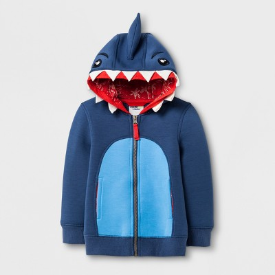 Toddler Boys' Genuine Kids® from OshKosh Shark Hoodie - Blue 18 M