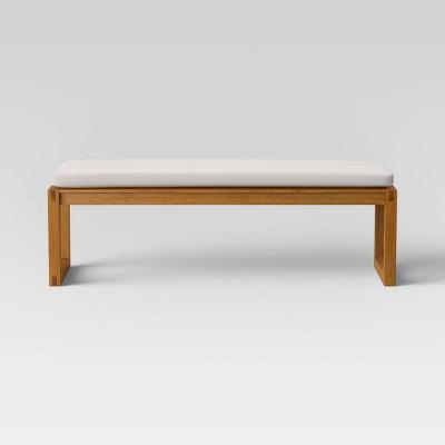 Kaufmann Wood Patio Bench - Linen - Project 62™
