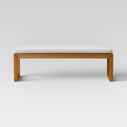 Kaufmann Wood Patio Bench - Linen - Project 62™ - image 1 of 4