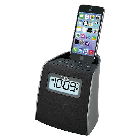 iHome Docking Clock Radio with Lightning Dock for iPhone/iPod - Gunmetal (iPL22G) - image 1 of 1
