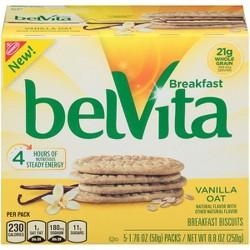 belVita Vanilla Oat Breakfast Biscuits - 5ct