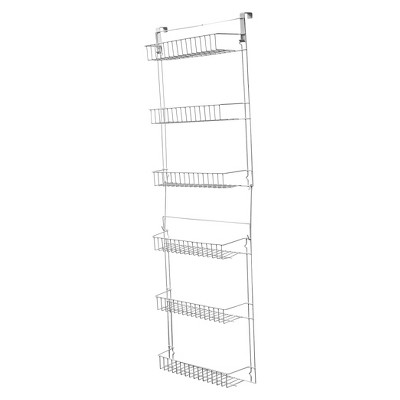 Trademark Global Overdoor Storage Basket Rack (5')
