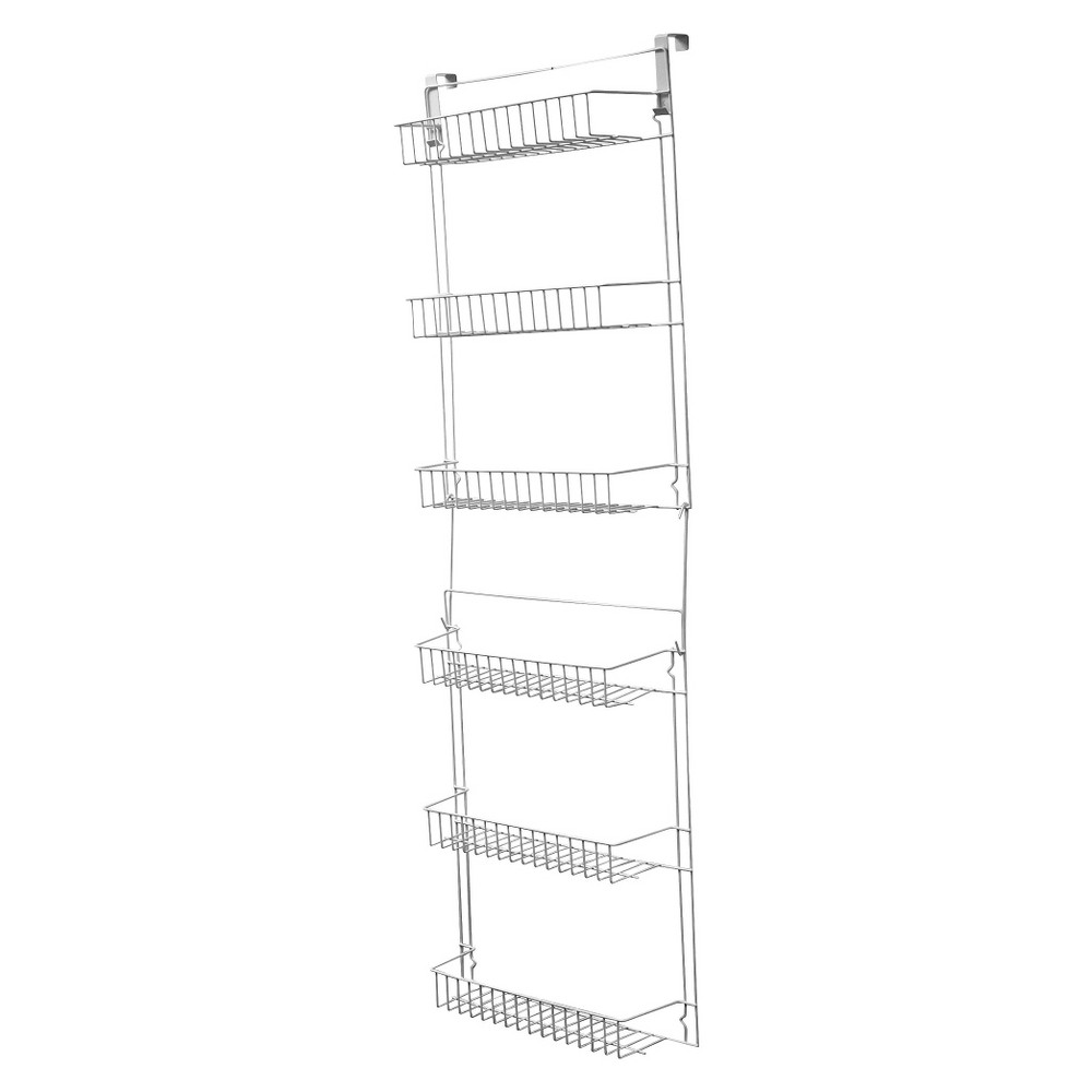 Image of Trademark Global Overdoor Storage Basket Rack (5')