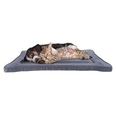 "Pet Pal Waterproof Dog Crate Pet Bed - 28"" x 18"", Gray"