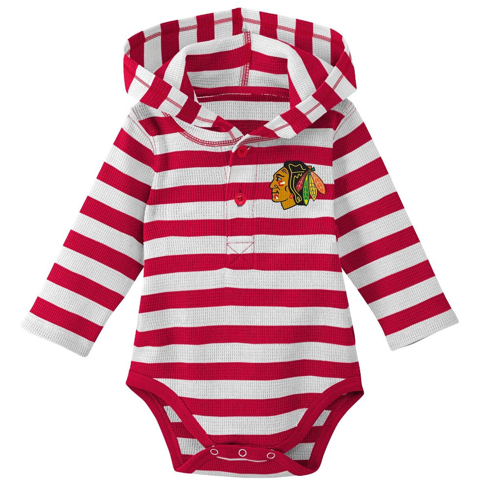 Chicago Blackhawks Boys' Newborn/Infant Sleeper Bodysuit - 12M, Multicolored