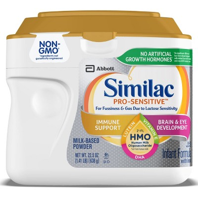 Similac Pro-Sensitive (HMO)Non-GMO Infant Formula Powder - 22.5oz