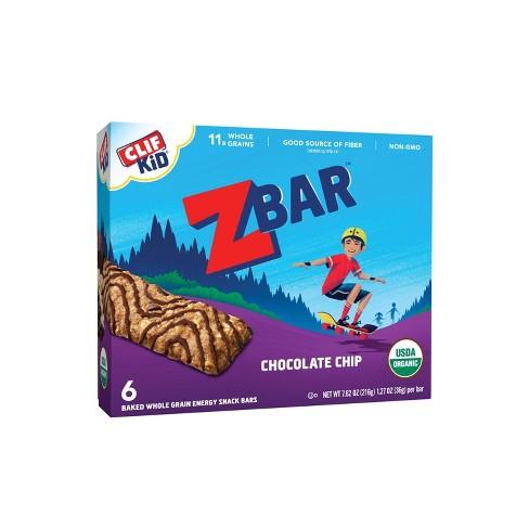CLIF Kid ZBAR Organic Chocolate Chip Snack Bars - 6ct - image 1 of 4