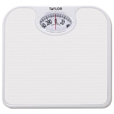 Analog Bathroom Scale White - Taylor