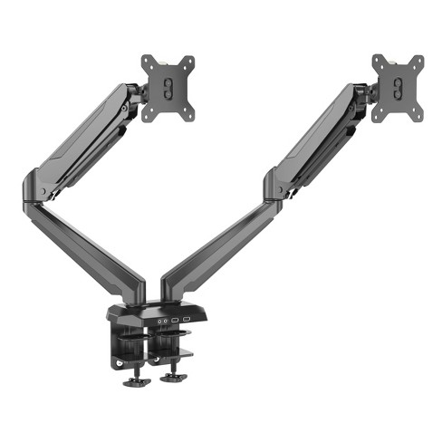 MegaMounts Fully Adjustable Tilt and Swivel Articulating Double Arm Monitor Desk  Mount  for 15in to 27in Screens - image 1 of 4