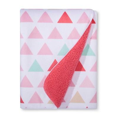 Plush Velboa Baby Blanket Triangles - Cloud Island™ - Pink
