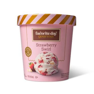 Strawberry Swirl Ice Cream - 16oz - Favorite Day™