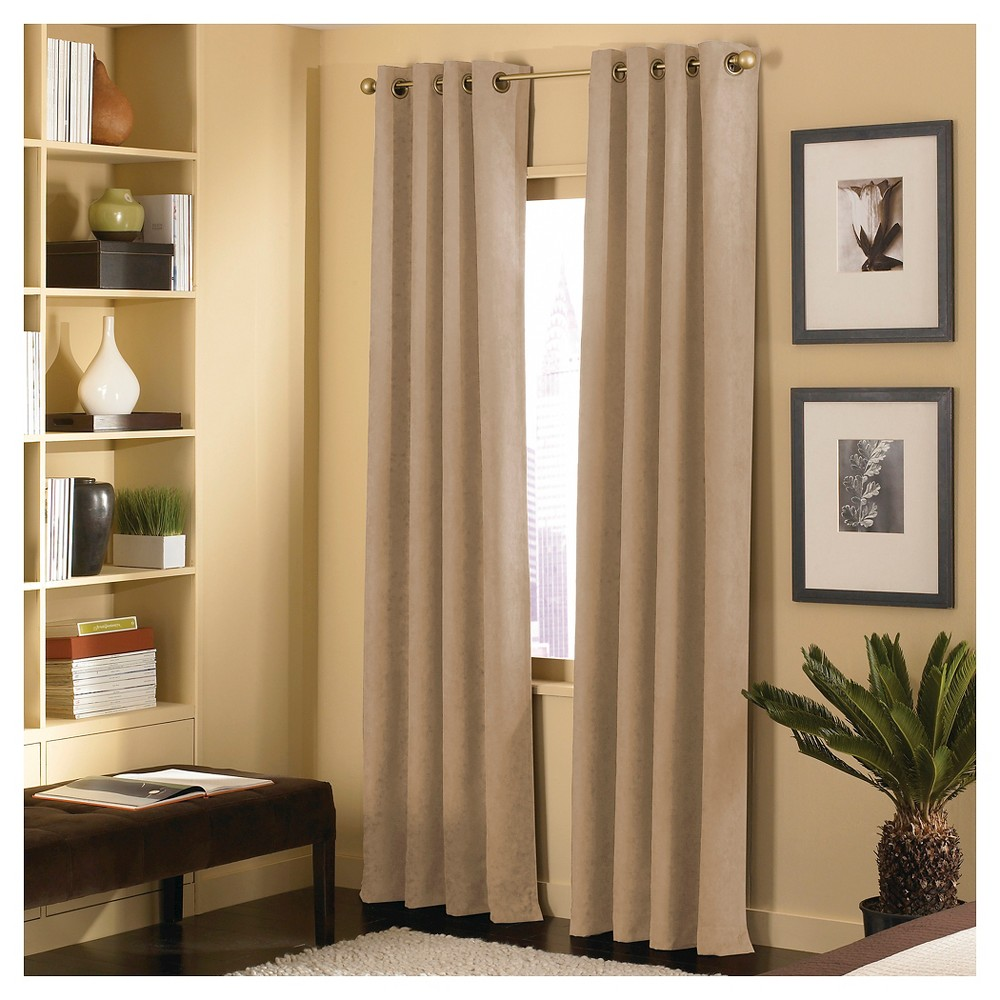 Image of Curtainworks Cameron Curtain Panel - Sand (Brown) (144)
