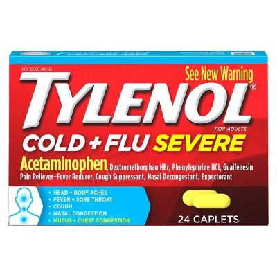 Tylenol Cold & Flu Severe Multi Symptom Caplets - Acetaminophen - 24ct