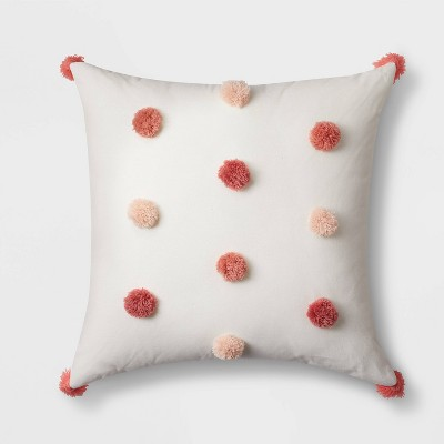 Square Tassel Throw Pillow Pink - Pillowfort™