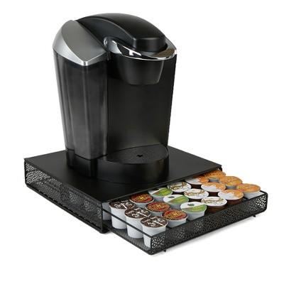 Mind Reader 36 Capacity Metal Mesh Single Serve Coffee Pod Storage Drawer    Black