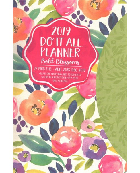 Bold Blossoms Do It All 2018-2019 17-Month Calendar -  (Paperback) - image 1 of 1