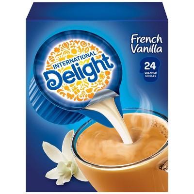 International Delight French Vanilla Singles Coffee Creamer - 24ct