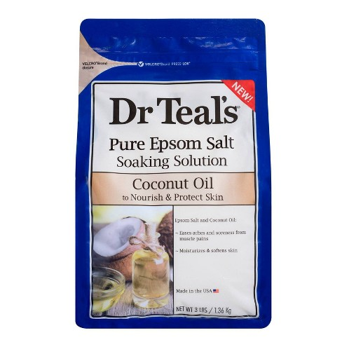 Dr Teal's Pure Epsom Salt Nourish & Protect Coconut Oil Soaking Solution - 3lbs - image 1 of 3
