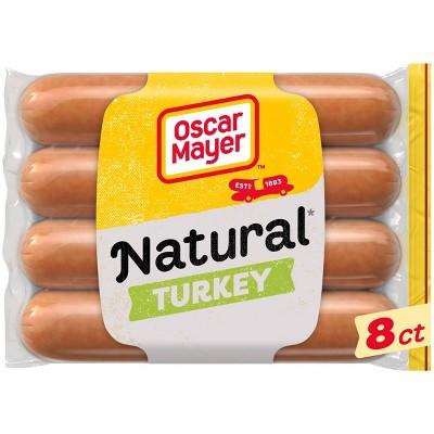 Oscar Mayer Hardwood Smoked Uncured Turkey Franks - 16oz/8ct