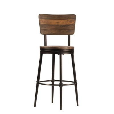 5pc Jennings Round Counter Height Dining Set With Swivel Counter Stools -Distressed Walnut - Hillsdale Furniture