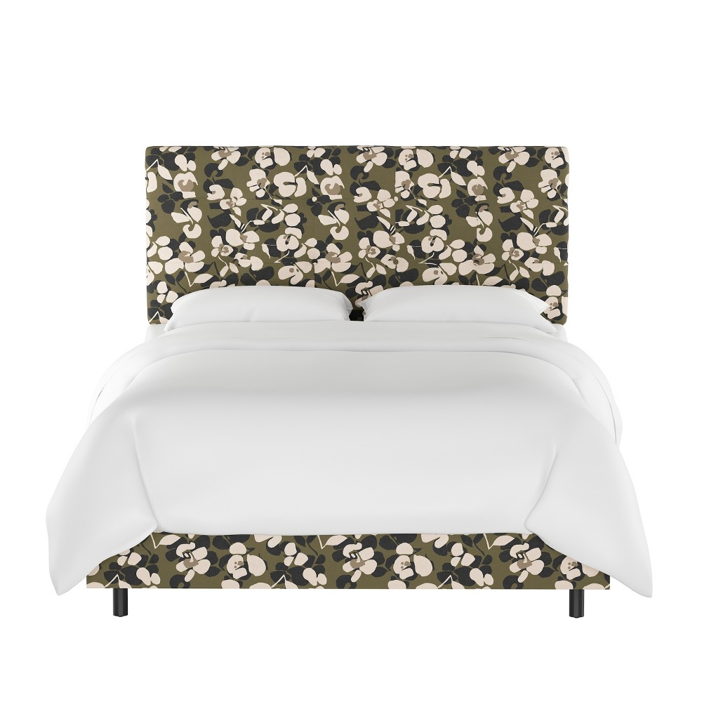 King Dolce Bed Neutral Floral - Cloth & Co.