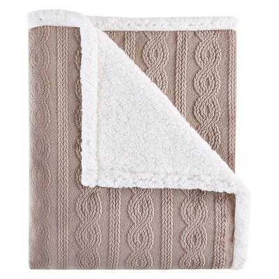 Tan Evans Plush to Berber Throw Blankets (50 x60 )