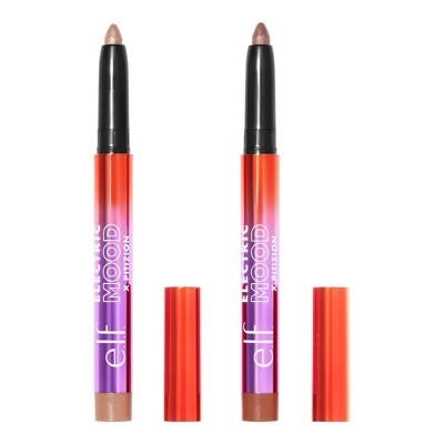 e.l.f. Electric Mood x Pitizion Eyeshadow Crayon Duo - Spotlight & Bambilina - 0.05oz