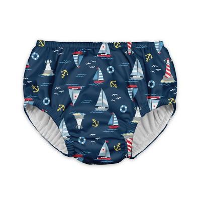 Toddler Boys' Sailboat Reusable Swim Diaper - Navy 2T - i play.®