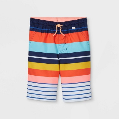Boys' Striped Swim Trunks - Cat & Jack™