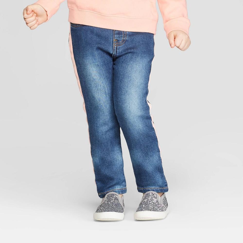 Toddler Girls' Side Taping Denim Pants - art class Blue 18M