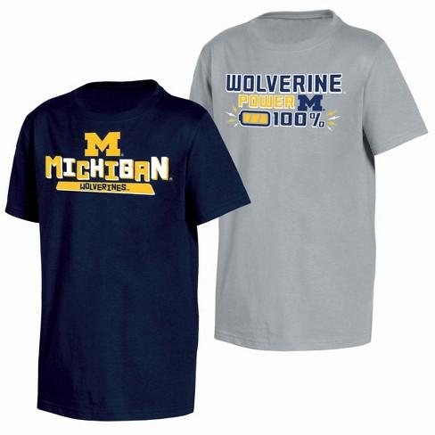 best cheap 9a693 f4033 NCAA Toddler Boys  2pk T-Shirt Michigan Wolverines   Target