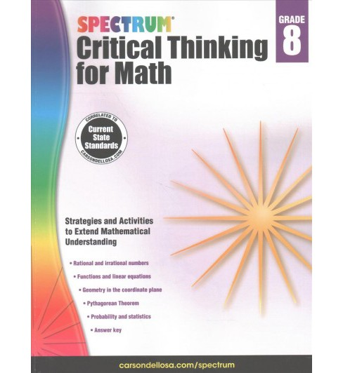 Spectrum Critical Thinking for Math, Grade 8 (Paperback) - image 1 of 1